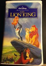 The Lion King VHS, 1995 Walt Disney Home Video Masterpiece Simba Clamshell Case