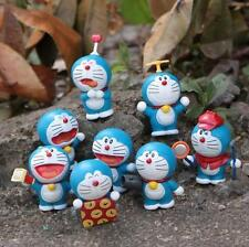 8 Pcs Doraemon Action Figure Cosplay Superhero Cartoon Anime PVC Kids Toys