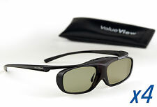 EPSON-Compatible ValueView® 3D Glasses. Rechargeable. FOUR PAIRS