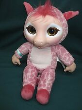 "Jakks Pacific ANIMAL BABIES Deluxe Electronic 14"" Plush PINK GIRAFFE Doll TESTED"