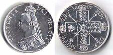 VICTORIA SILVER DOUBLE FLORIN Coin 1887