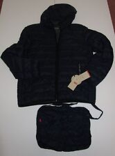 Mens Levis Navy Ultra Loft Down Alternative Packable Puffer Jacket Coat Large