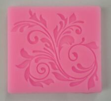 Lace Flower Scroll Silicone Fondant Mold Cake Cupcake Flower Embossing Damask