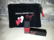 French Rendezous Catherine Malandrino 3 pc nail polish & lipstick cosmetic nwob