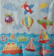 4 X SINGLE PAPER NAPKINS- PARTY TOYS - DECOUPAGE CRAFTING  TABLE PARTY  -92