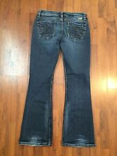 "Women's Size 27 30"" Inseam Silver Jeans Tuesday 20"" Very Good"