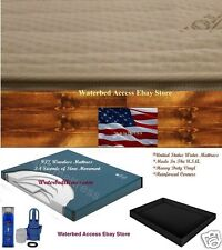 Queen Waveless Waterbed Mattress with Cotton Zipper Cover and Safety Liner