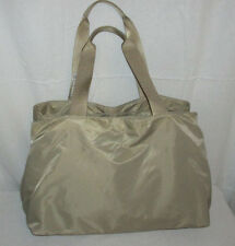 "BRIC'S ""Fly Collection"" Beige Nylon/Leather Trim Shoulder Bag/Tote/Travel Duffle"