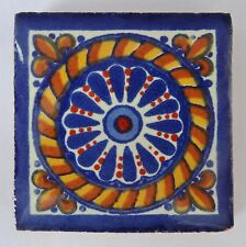 Fairly Traded Handmade Ceramic Mexican Talavera Tile - Tranquilla T12859-19