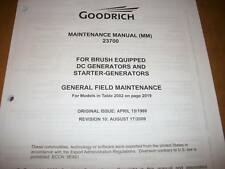 Goodrich DC Generators & Starter-Generators 23700 Service Manual