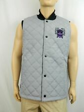 NEW Adidas Gray Quilted Puffer Gioia Courtside Basketball Sleeveless Vest XL
