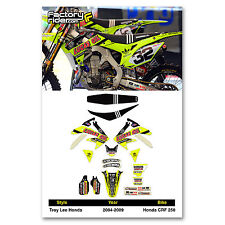 2004-2009 HONDA CRF 250 Dirt Bike TLD Neon Graphics kit Motocross Graphics Decal