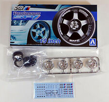 "Aoshima 1/24 SSR Professor SP1 19"" Wheel & Tire Set For Plastic Models 5253 (14)"