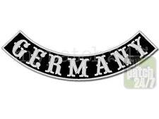 Un écusson Biker patch GERMANY arc Bas 30cm brodés, Bottom rocker, MC