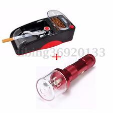 Electric Grinder Herb Crusher+Automatic Cigarette Machine Injector Rolling Maker