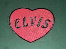 PUNK ROCK METAL MUSIC SEW/IRON ON PATCH:- ELVIS RED LOVE HEART