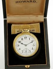 21 JEWEL 16 SIZE SERIES 10 HOWARD RAILROAD POCKET WATCH WITH MONTGOMERY DIAL