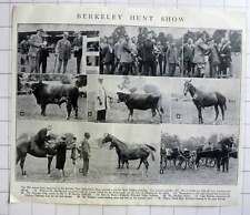 1928 Barclay Hunt Agricultural Show, Bank Holiday Mr Jack Scarratt, G Clark,