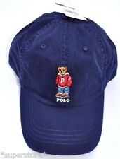 NWT POLO RALPH LAUREN Men Ski Varsity Bear CAP Baseball Hat LIMITED Edition NAVY