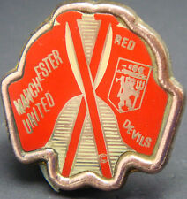 MANCHESTER UNITED FC Vintage insert badge Maker COFFER SPORTS  N'ton 33mm x 34mm
