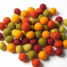 60 Hand-felted Wool Felt Balls 1.5 CM Autumn Halloween Handbehg Felts Crafts