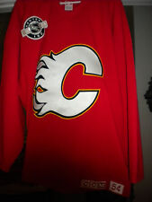 NHL CALGARY FLAMES GAME WORN PRACTICE  HOCKEY JERSEY