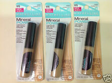 ( LOT OF 3 ) MAYBELLINE MINERAL POWER CONCEALER ( SAND MEDIUM 0-1 ) NEW.