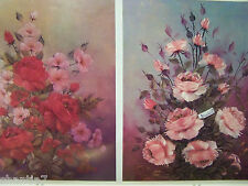 ROSES ARE FOR EVERYONE V1 BILL HUFFAKER OIL 1984 FLOWERS SCHEEWE TOLE PAINT