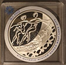 2001 Ukraine 10 Hryven Silver Proof Ice Dancing        ** FREE U.S SHIPPING **