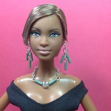 S812 Silkstone Barbie Fashion Royalty Doll Jewelry Green & Crystal (over age 14