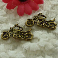 free ship 45 pieces bronze plated motorcycle charms 25x14mm #2569