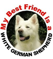 2 German Shepherd Dog (White) Car Stickers By Starprint