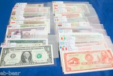 Lots 100 different banknotes 50 countries World Paper Money UNC bank notes