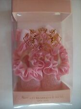 Juicy Couture Baby Crib Shoes/Booties/Socks Headwrap Ruffles Bow Print NIB