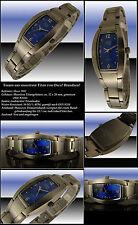 Osco titanio massiccio da Donna Designer Orologio Azur Blu Nuovo