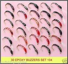 30 mixed EPOXY BUZZERS trout fly fishing flies new SET 104