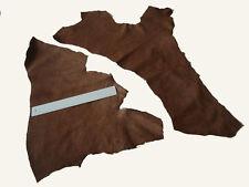 MEDIUM BROWN  LEATHER REMNANTS -  #2958 -  CRAFTS, REPAIRS, ELBOW PATCH LARP ETC