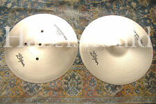 "SOUNDFILE! NO LONGER MADE Early 90s ZILDJIAN 15"" QUICK BEAT Hihats 1410 & 1476 G"