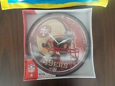 """NFL SAN FRANCISCO 49ERS 12"""" WALL CLOCK BRAND NEW IN PACKAGE WINCRAFT SPORTS"""