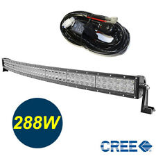 50inch Curved Off Road 288W CREE LED Lamp Work Light Bar SUV Jeep 4WD +RELAY