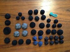 44 Vintage Assorted Fabric Covered Buttons for Crafts, Jewelry