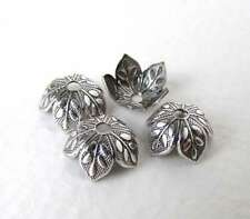 Antiqued Silver Ox Leaf Bead Cap Vintage Style 8mm