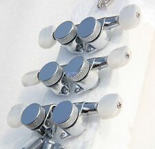 JIN HO Tuners 3x3 Guitar Locking Tuners w/Pearl Botton SP Lock Fit