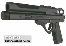 New RAP4 T68 GEN3 Tactical .68 Paintball Pistol w/ 10rd Magazine - Black