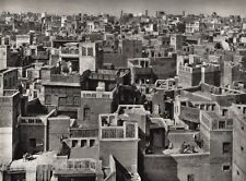 1928 Original INDIA Lahore Roof Architecture Cityscape Photo Art By HURLIMANN