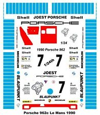 #7 Blaupunkt Porsche 1990 1/25th - 1/24th Scale Waterslide Decals