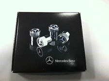 Mercedes-Benz Ventilkappen Design SET mit Mercedes Stern in Chrom