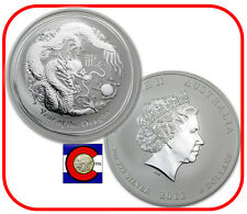2012 Australia Lunar Dragon 5 oz 0.999 Silver, Series II, Australian Perth Mint
