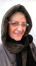 Damenmütze Schalmütze Kapuzenschal in schwarz/grün Schalmützen Damenmützen