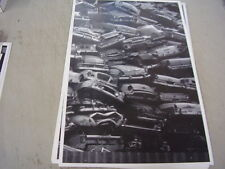 CAR JUNK YARD STACKED 1950S CARS BUICK FORD CHEV  12 X 18 LARGE PICTURE / PHOTO